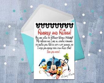 Disney Trip, Surprise Disney Trip Letter, Disney Letter, Surprise - You're Going to Disney Letter, Walt Disney World, Personalized JPEG