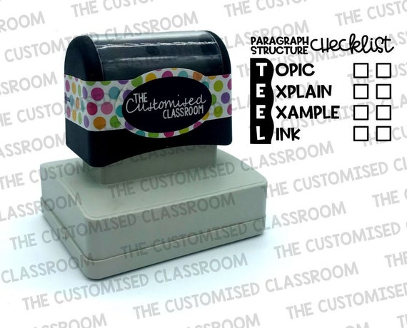 Bear-y Cleaver 25x50mm Refillable Pre-Inked Teacher Stamp