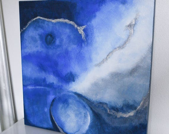 Canvas shades acrylic blue