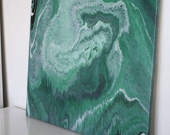 GREEN acrylic canvas painting