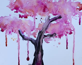 April Showers (Tree Painting)