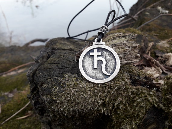 Venus glyph leather necklace,Astrological symbol,Alchemical,astronomical symbol,planetary symbol,Venus Goddess of love,Horoscope jewelry,