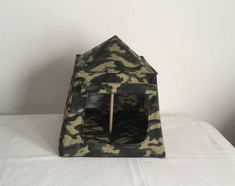 """Camouflage camping tent for 11-1/2"""" figures"""