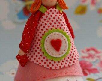 Garden girl of felt-Handicraft package