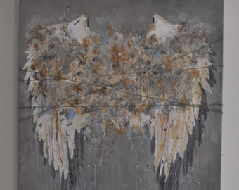 Abstract Angelwings Acrylic Painting