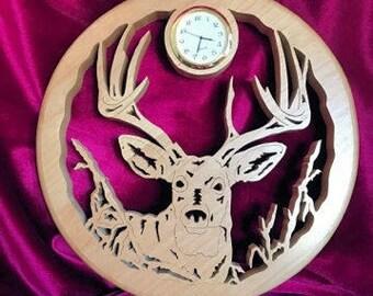 Hand Crafted, Wood, Elk Wall Clock, Hunter or Wildlife Enthusiast Gift, Birthday, Wedding, Anniversary, Gift Idea