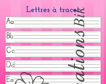 Lettres - FICHIER PDF - Thème apprentissage pour enfants