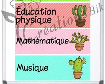 CACTUS system for classroom management, teacher, teacher, school