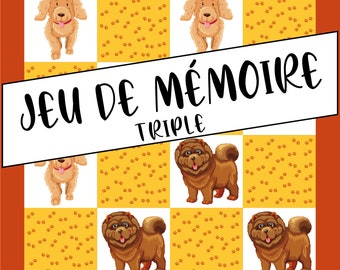 Triple Memory Game - Dogs