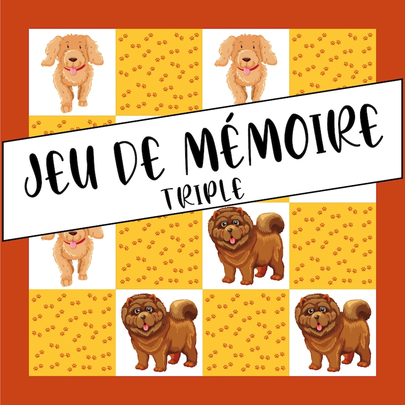 Triple Memory Game  Dogs image 0