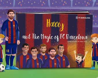 692265089 Personalized Children s Book - The Magic of FC Barcelona - Official  Licensed Product - Birthday Present - Football Club Book