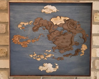 Avatar the last airbender map | Etsy