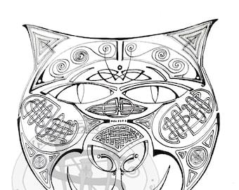 Wild Cat Colouring Sheet