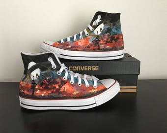 Custom converse naruto theme
