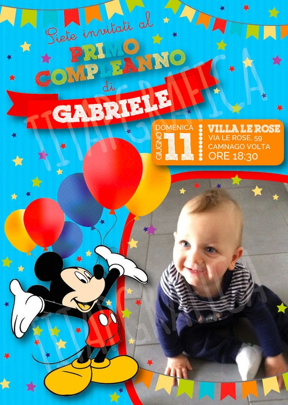 Mickey Mouse Birthday Invitation WHATSAPP