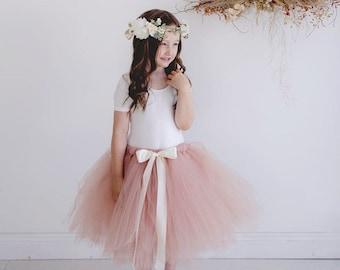 Flowergirl Tutu, tutu, Rosegold tutu, ankle tutu, calf length tutu, tea length tutu