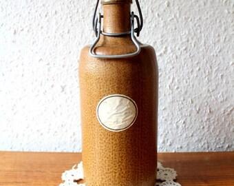 Liqueur bottle earthenware 700ml M.K.M vintage