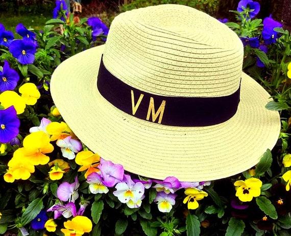 Initial Trilby HatHoneymoon hat wifey hat customised hat  cc6016ad23c