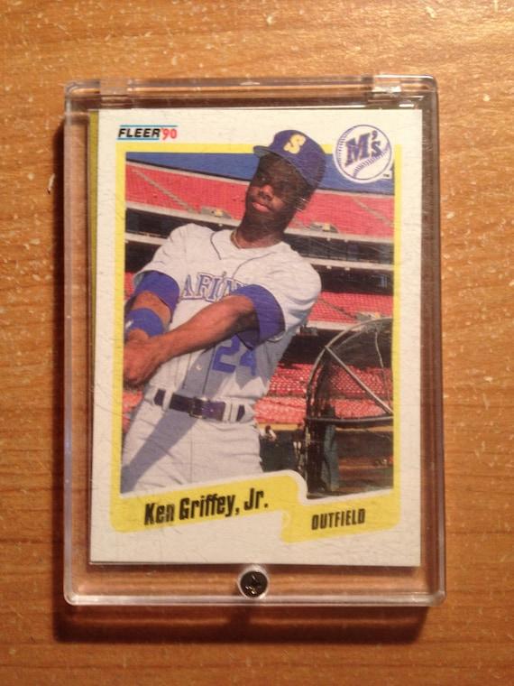 dc3406f966 Ken Griffey Jr. 990 Fleer Rookie Card | Etsy