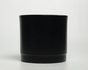Matte Black Ceramic Planter