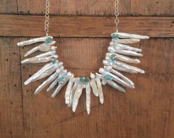 Pearl Apatite Necklace