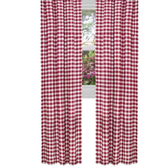 lovemyfabric Gingham//Checkered Polyester Curtain Window Treatment//Decor Panel
