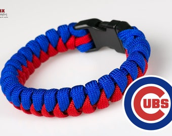 Chicago Cubs Inspired Paracord Survival Bracelet 2fb08a90b