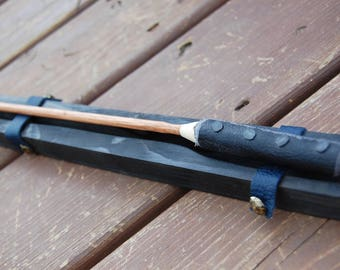 Magic Wand  Wood and Leather