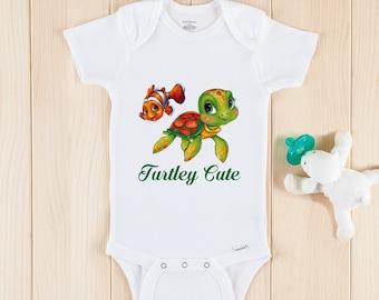 Cute Baby Bodysuit or Gerber Onesie\u00ae Turtle Onesie\u00ae Turtle Baby Shower Baby Turtle Cute Baby Onesie\u00aeCute Baby Gifts Cute Baby Onsies Awesome