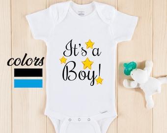 oh boy gender reveal onesie\u00ae Little dude onesie\u00ae pregnancy announcement onesie\u00ae boy gender reveal baby announcement it/'s a boy onesie\u00ae