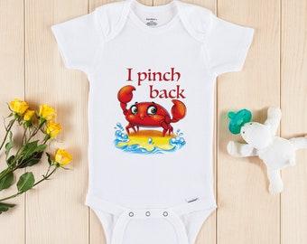 Watercolor Crab Bodysuit Unique Nautical Baby Shower Gift Infant Bodysuit Creeper