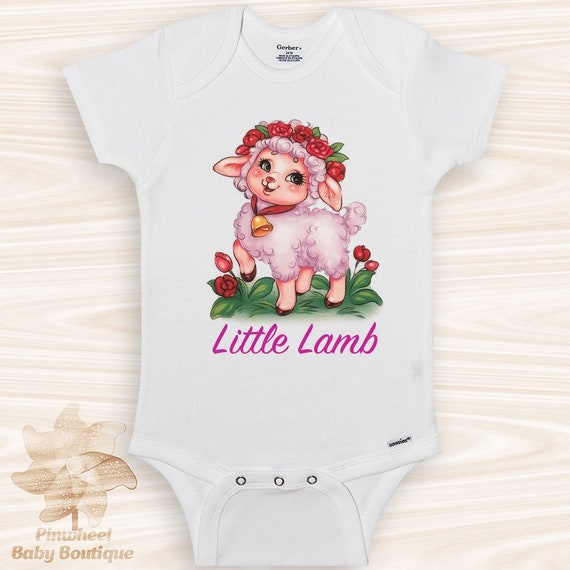 c624a1b29626 Lamb Onesie® Baby Girl Clothes Lamb Baby Shower Gift Easter
