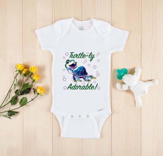 Turtle Baby Clothes Cute Bodysuit Turtle Onesie\u00ae Baby Turtley Adorable Onesie\u00ae Cute Turtle Baby Clothes baby onesie baby clothes