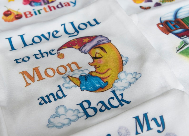 I Love You To The Moon And Back Onesie\u00ae Moon Onesie Moon Baby Clothes Baby Shower Gift Love Onesie Newborn Baby Outfit Toddler Moon Shirt