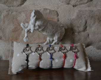 Silver-plated horse head bracelet