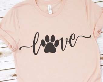 ea50d357cde4 Love with Pawprint svg