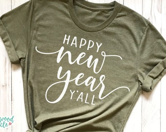 Happy New Year Y'all svg, Happy New Year svg, New Years svg, New Years Eve svg, New Year svg, New Years svg File, New Years Shirt svg, dxf