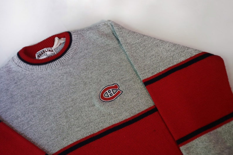info for e4d9b 8606f Retro Montreal Canadiens Sweater