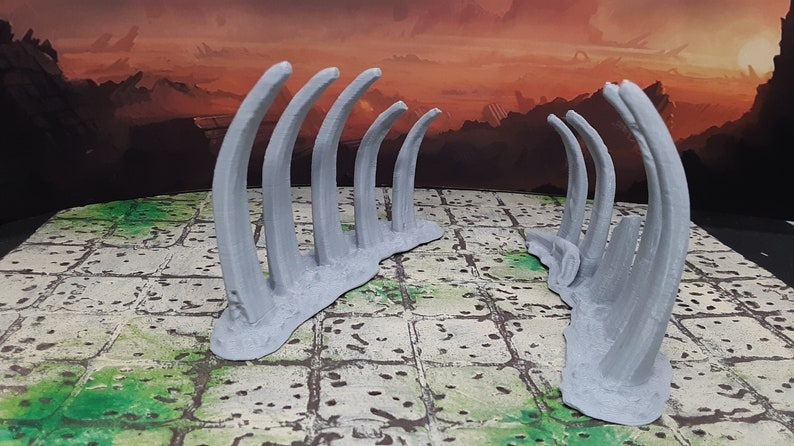 6 Piece Boneyard Wasteland Scatter Terrain 28mm Scale Fantasy Decoration Model for RPG Tabletop Fantasy Games Dungeon/'s /& Dragons 3D Printed