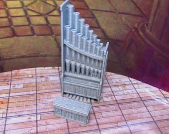 Church Pipe Organ & Bench Set Scatter Terrain  Scenery Tabletop Gaming Mini Miniature Models 28/32MM 3D Printed Tabletop Gaming RPG