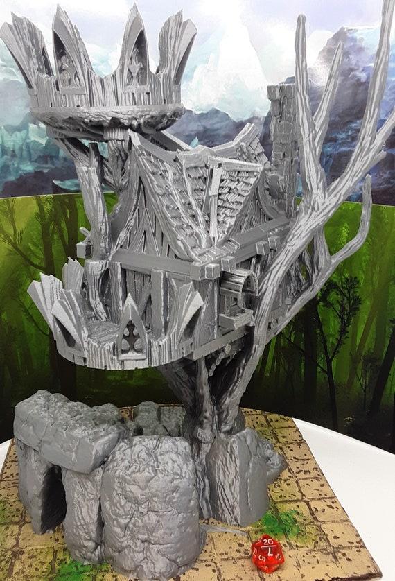 Elven Treehouse Watchtower Warhammer scale Fantasy Tabletop Wargames 28mm