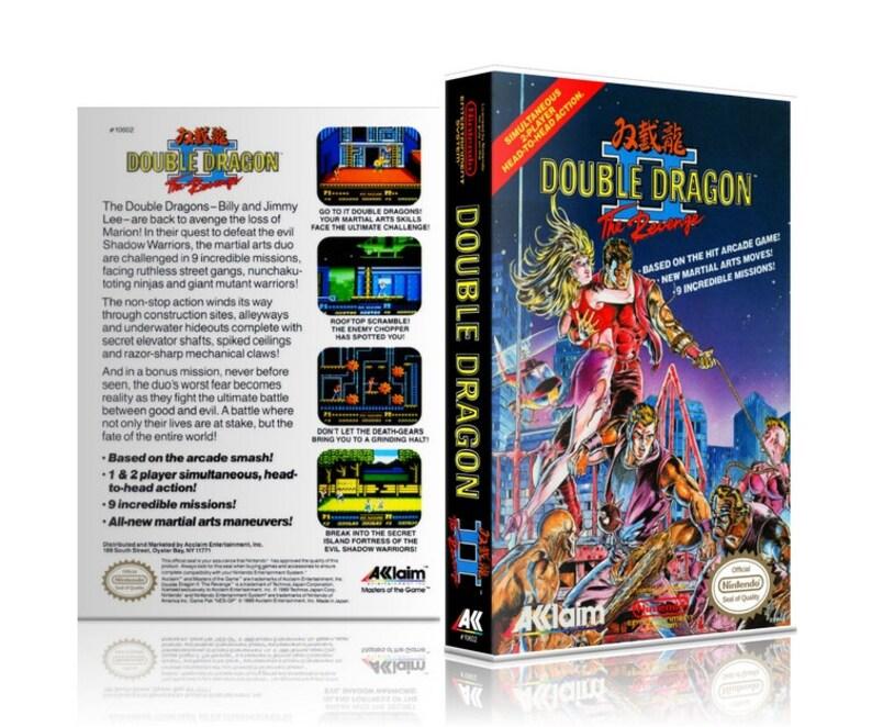 Double Dragon Ii 2 The Revenge Nes Nintendo Ugc Video Game Etsy