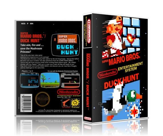Super Mario Bros Duck Hunt Nes Nintendo Ugc Video Game Etsy