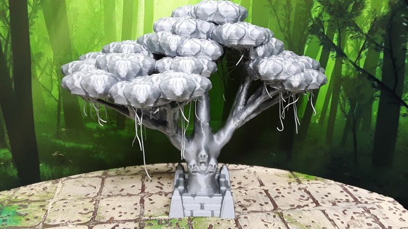 Haunted Forest Cemetery Tree Miniature Model UNPAINTED 28mm Scale Fantasy  Scatter Terrain RPG Fantasy Games Dungeons & Dragons 3D Printed