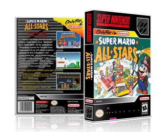 Super Mario All Stars SNES UGC Video Game Collector's Case with Professional Grade Cover Art