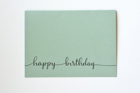 Items Similar To Birthday Card Hand Lettered Birthday Card Simple