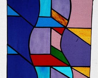 Rectangle Glass Suncatcher