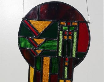 Stained glass Dream Catcher - Suncatcher