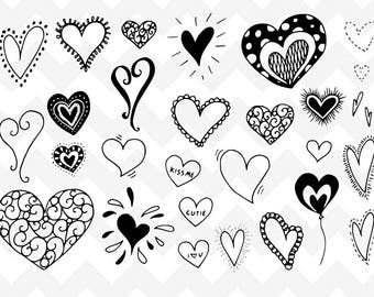 Heart Border Svg Heart Border Svg Bundle Borderssvg Etsy