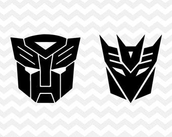 Transformers SVG Autobots Decepticons Autobot Logo Decepticon Svg Cut File Silhouette Cricut